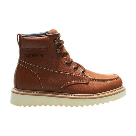 mens moc toe boot wolverine mens moc toe 6 quot work boot work world