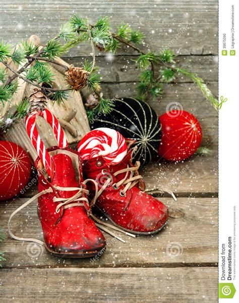 christmas stocking festive nostalgic decoration stock
