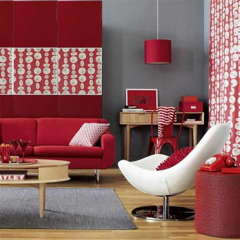 red and gray living room modern red and grey living room how to decorate with red