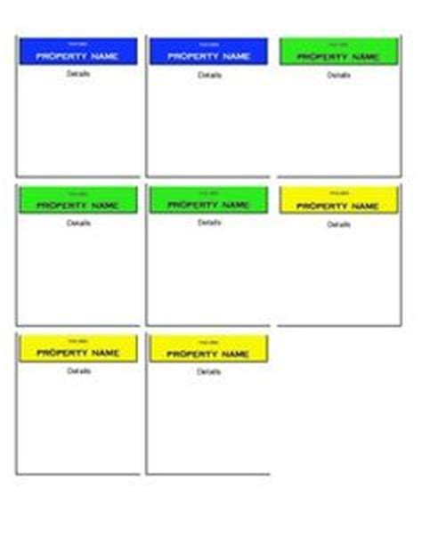 monopoly cards template 1000 images about monopoly classroom on