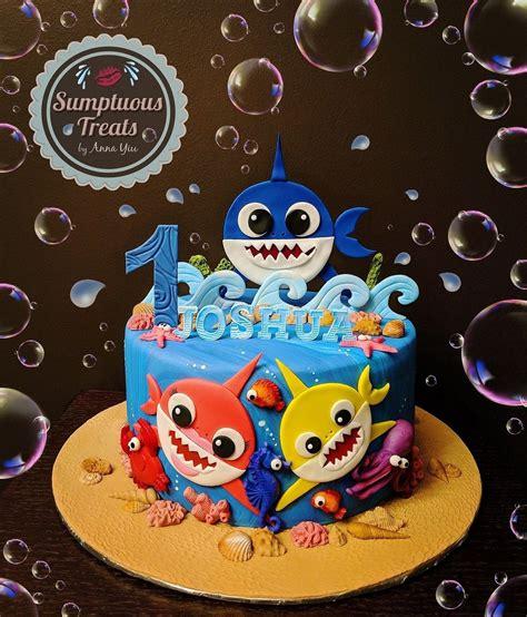 pink fong baby shark cake custom cakes edible art wwwsumptuoustreatscom zaires