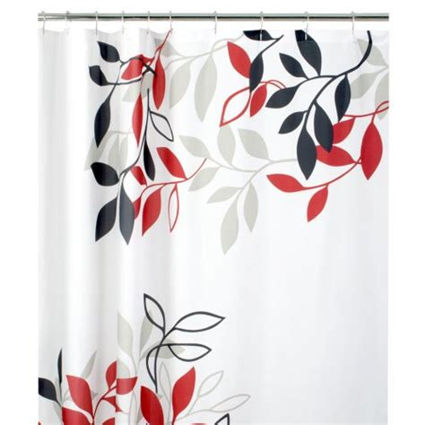 red vinyl shower curtain maytex mills satori fabric shower curtain red new free