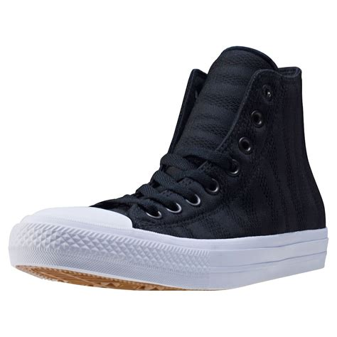 converse knit converse ct all ii zebra knit hi mens trainers in black