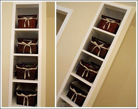Bathroom Wall Shelves With Baskets 89 Best Images About Bathroom Storage Ideas On