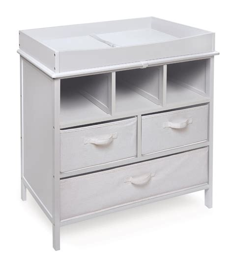 White Wood Changing Table White Painted Pine Wood Changing Table With White Drawers Field Decor