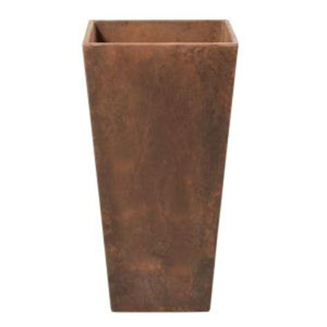 Home Depot Planters by Home Decorators Collection Ella 11 In Square Teak Resin Planter 0508200980 The Home Depot