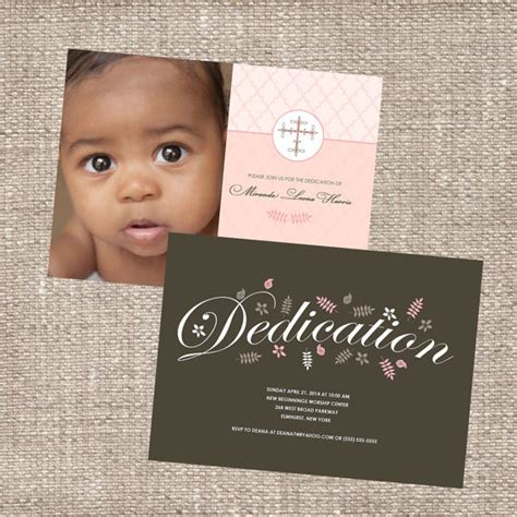 baby dedication invitation template christian baby dedication christening photo by diconshadesigns