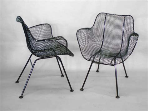 Wrought Iron Dining Chairs For Sale Six Wrought Iron With Mesh Dining Chairs By Woodard For Sale At 1stdibs
