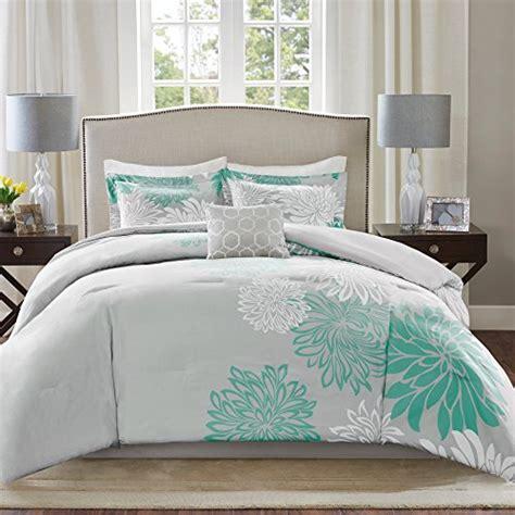 Comfort Spaces Kashmir Comforter Set Comfort Spaces Enya Comforter Set 5 Aqua Grey Floral Printed King Size