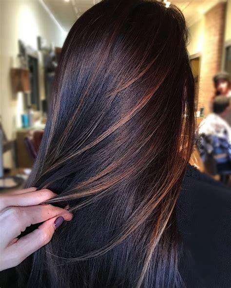 blk short hair in fromt long bk 25 best ideas about dark brunette balayage on pinterest