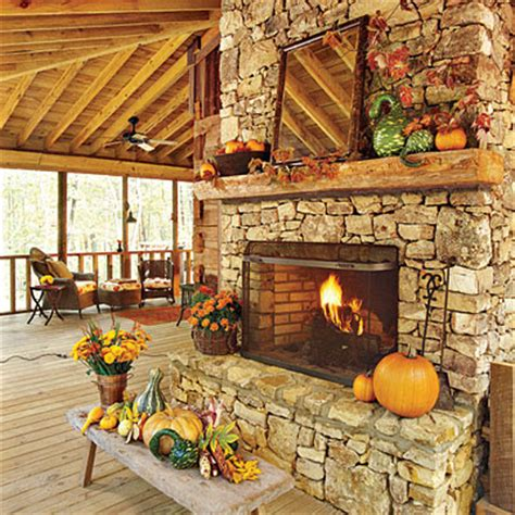 Outdoor Living Spaces For Fall And Winter Personal Touch Outdoor Fireplace Decor