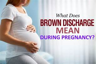 brown discharge during pregnancy causes symptoms and