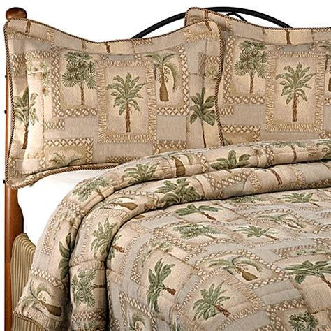 palm tree comforter sets palm grove comforter set www bedbathandbeyond ca