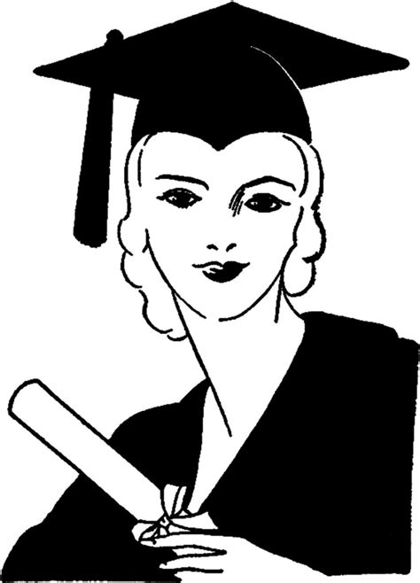 vintage graduation lady image  graphics fairy