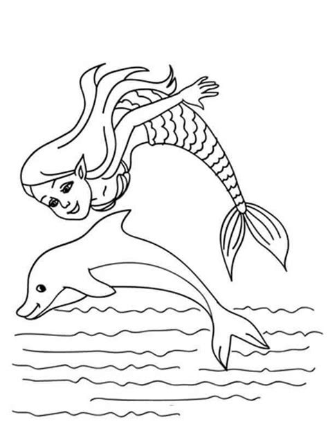 coloring page mermaid and dolphin 30 stunning mermaid coloring pages