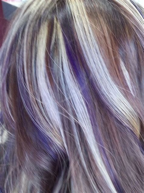 puple with blonde highlights purple and blonde highlights yelp