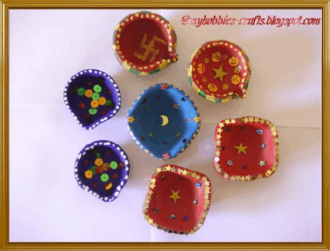 Handmade Diya Decoration - my hobbies and crafts diya decorations
