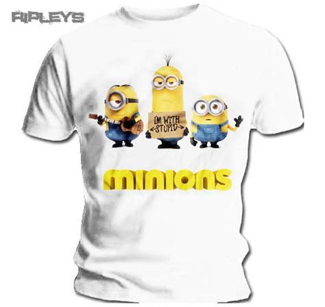 Despicable Me 23 T Shirt official t shirt minions despicable me i m with stupid all