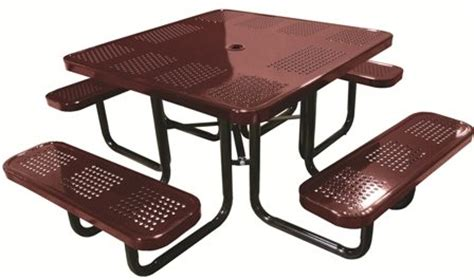 school outdoor furniture 46 quot square perforated table outdoor school furniture