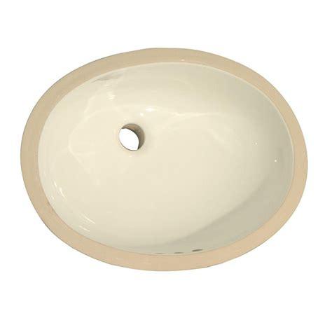 polaris sinks undermount porcelain bathroom sink in bisque