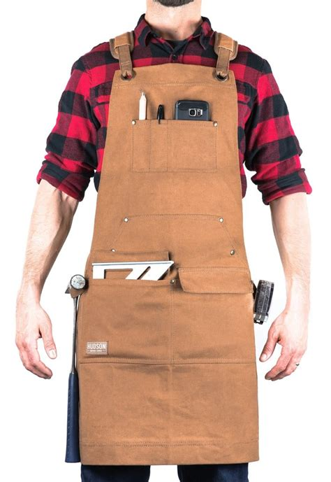 hudson durable goods woodworker apron waxed canvas