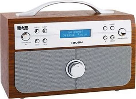 bush wood effect dab fm stereo radio with alarm clock