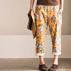 New Munafie Flower Pant Celana Munafie Japan purple vintage sweater causel blouse clothes linen trousers and trousers