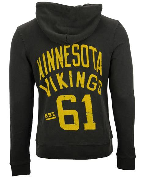 Sweater Hoodie Junk182 Front Logo junk food s minnesota vikings sunday hoodie in black for lyst