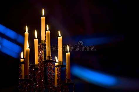 candelabra candle candles in a candelabra stock photo image of chandelier