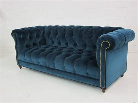 Chesterfield Sofa In Blue Velvet Blue Green N Puple Blue Velvet Chesterfield Sofa