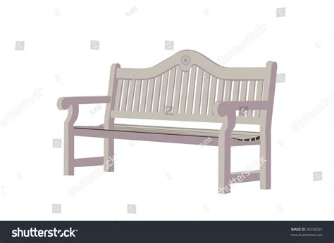 park bench drawing drawing of a wooden park bench stock vector illustration