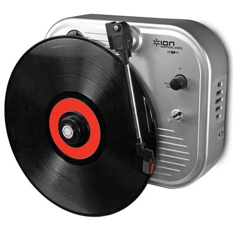 Cd Player Für Die Wand by Ion Audio Vertikaler Plattenspieler Vinyl An Die Wand