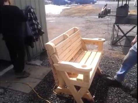 crazy cool picnic table garden bench youtube