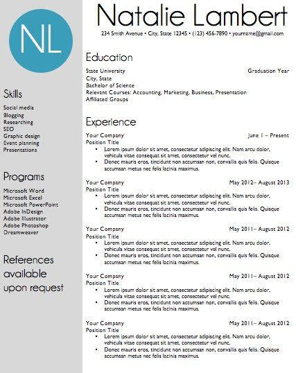 Resume Template Word Document Download Modern Monogram Modern Resume And Templates Monogram Resume Template