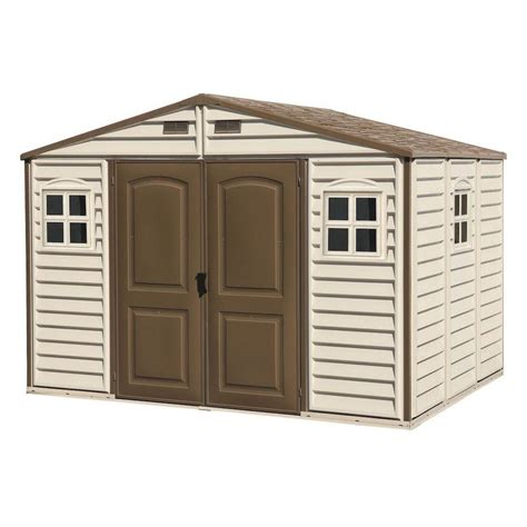 Duramax 10 X 8 Shed by Duramax Building Products Woodside 10 Ft X 8 Ft Vinyl