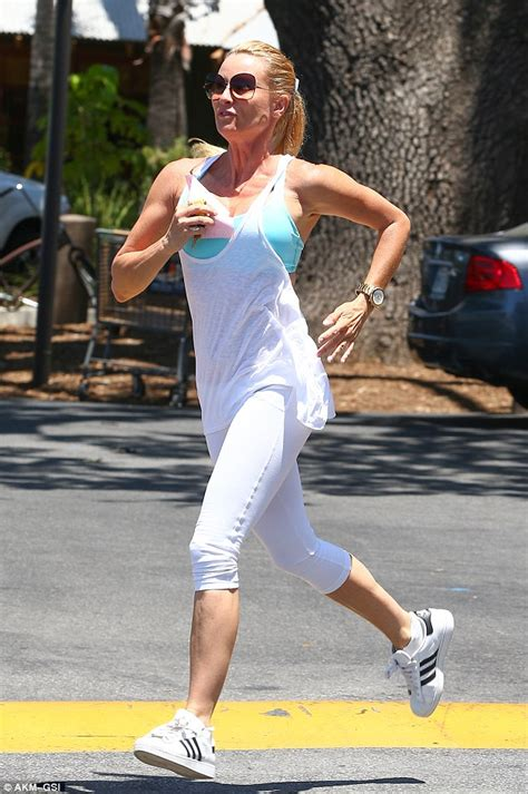 nicollette sheridan shows nicollette sheridan shows off her boundless energy as she