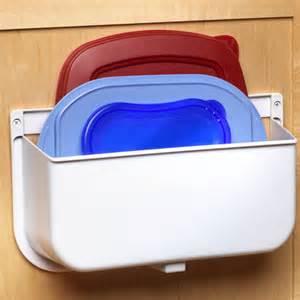 kitchen cabinet door organizers mounted lid caddy or plastic bag recycler in cabinet door