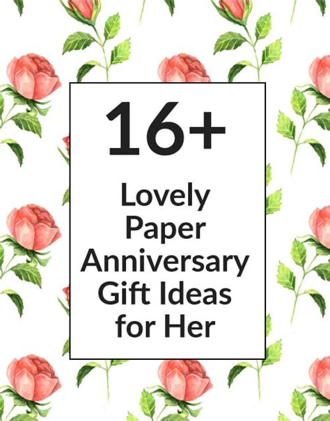 1st wedding anniversary gifts for her paper 16 paper 1st wedding anniversary gift ideas for your wife