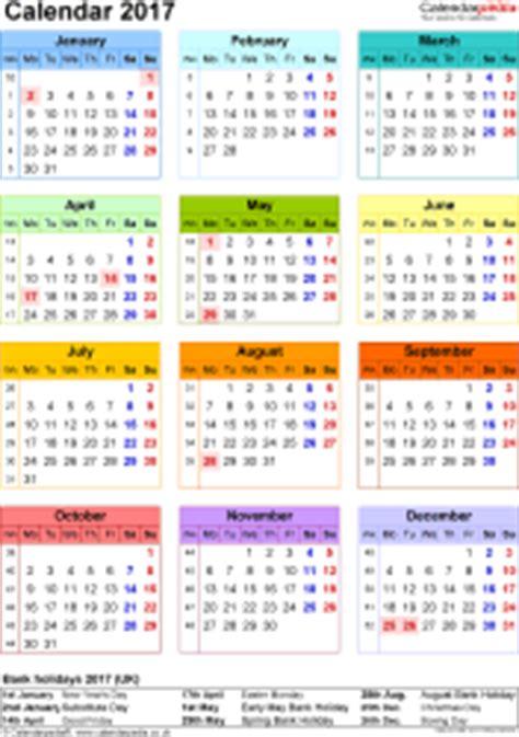 Calendar 2017 Excel Uk Excel Calendar 2017 Uk 16 Printable Templates Xls Xlsx