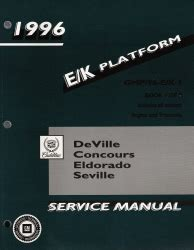 online car repair manuals free 1996 cadillac seville transmission control 1996 cadillac deville concours eldorado seville factory service manual