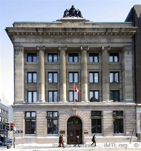 bureau de poste ste catherine l 233 once lessard building montreal