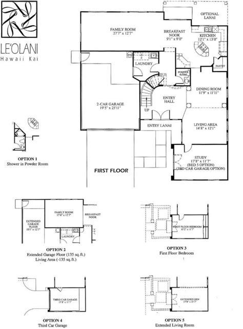 Ground Floor Honolulu by 5 Leolani Floor Plans Newer Hawaii Homes