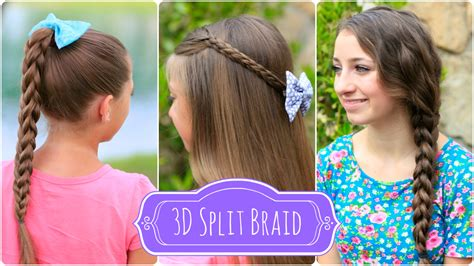 3d split braid three different looks cute girls hairstyles