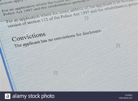How To Clean A Criminal Record Clean Criminal Record Up Of Disclosure Scotland Basic Stock Photo Royalty