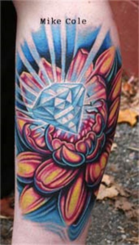 diamond tattoo aurora mike cole diamond lotus