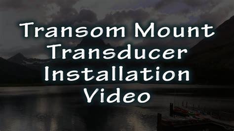 installing depth finder on fiberglass boat hawkeye 174 video short transom mounting a transducer on a