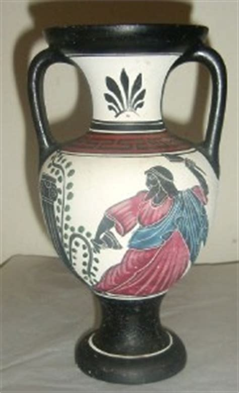 Zeus Vase Hand Made Naxos Greece Greek Myth Zeus Pottery Art Ad