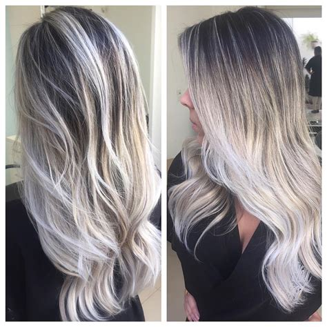 platinum ombre hair platinum highlights platinum blonde hair with light brown