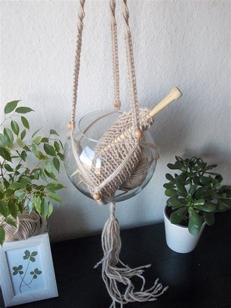 Yarn Plant Hanger - 1000 images about modern macrame plant hanger on