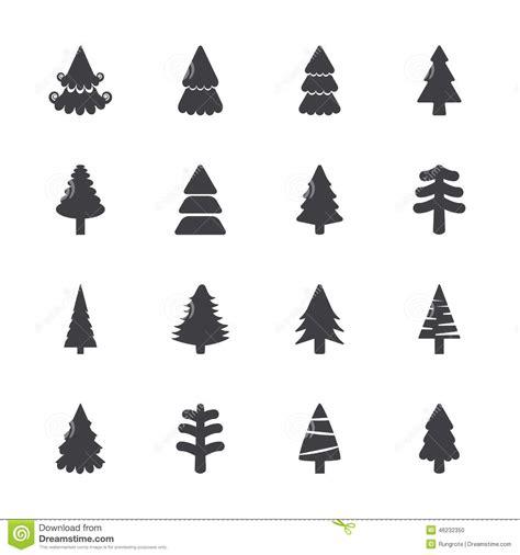 silueta de árbol de navidad sistema icono 225 rbol de navidad vector eps10 ilustraci 243 n vector imagen 46232350